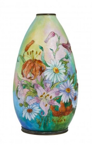 Vase émaillé de Camille Fauré (1874-1956) - Decorative Objects Style
