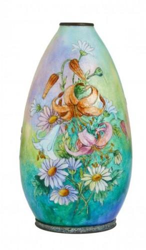 Vase émaillé de Camille Fauré (1874-1956) -