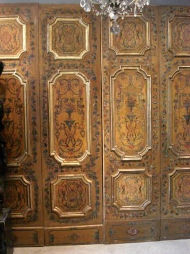 Serie of polychrome italians doors 18th century -