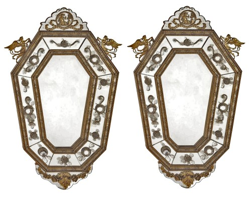 Pair of italians mirrors, 19th century
