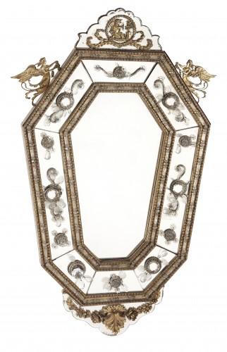 Pair of italians mirrors, 19th century - Mirrors, Trumeau Style