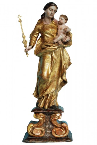 Sculpture Mother of God with Child circa 1680-1700