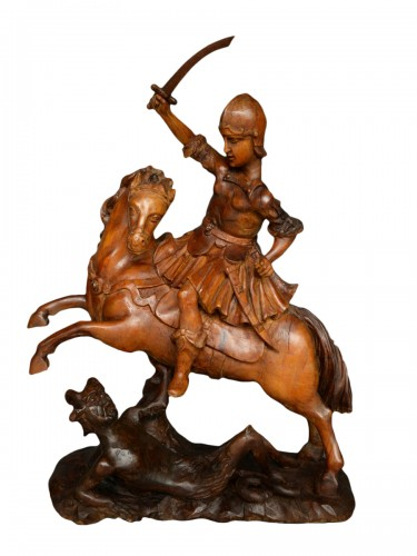 Saint Michael on the horse, Italy 18th century