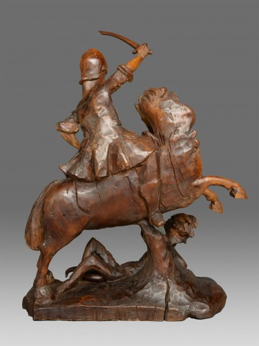 Sculpture  - Saint Michael on the horse, Italy 18th century