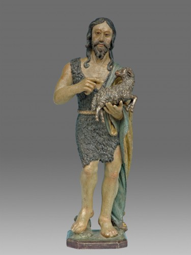 Saint John the Baptist, Northern Italy circa 1520- 40 - Sculpture Style Middle age