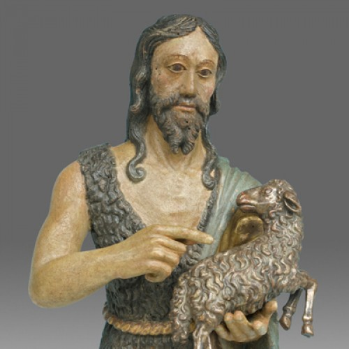 Sculpture  - Saint John the Baptist, Northern Italy circa 1520- 40
