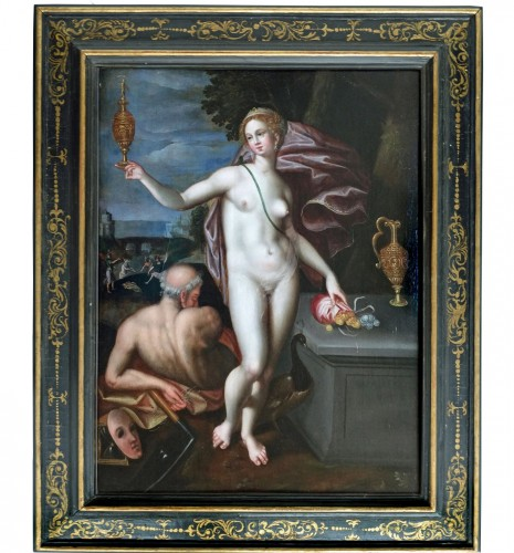 Allegory with Juno and Saturn