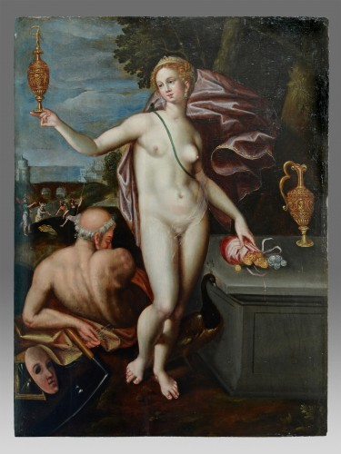 Allegory with Juno and Saturn - Paintings & Drawings Style Renaissance