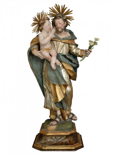 Sculpture Saint Joseph with child