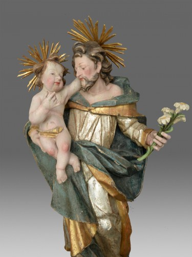 Sculpture Saint Joseph with child - Sculpture Style
