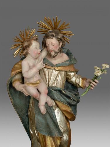 Sculpture  - Sculpture Saint Joseph with child