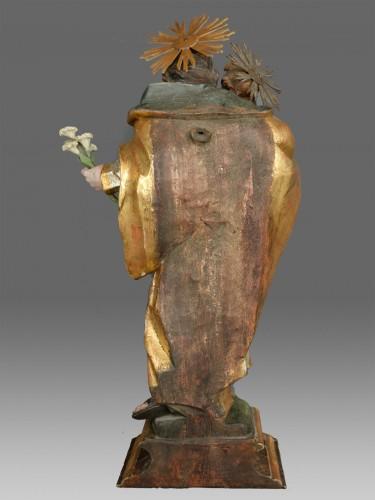 18th century - Sculpture Saint Joseph with child