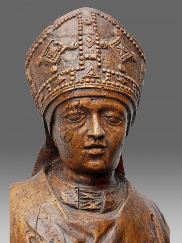 Pontiff Northern France 16th Century - Sculpture Style Middle age