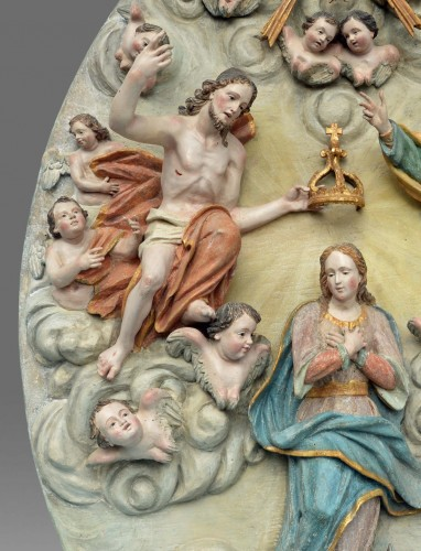 Coronation of the Virgin Mary - Sculpture Style