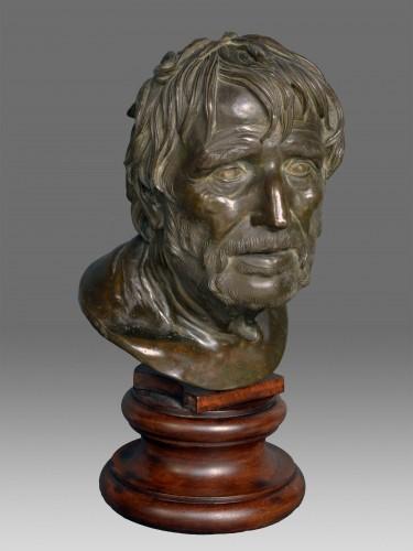 Sculpture  - Bust in bronze of Seneca Naples 19th Century