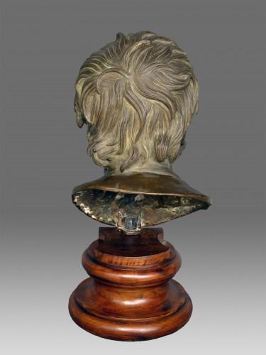 19th century - Bust in bronze of Seneca Naples 19th Century