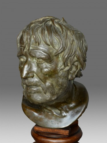 Bust in bronze of Seneca Naples 19th Century -
