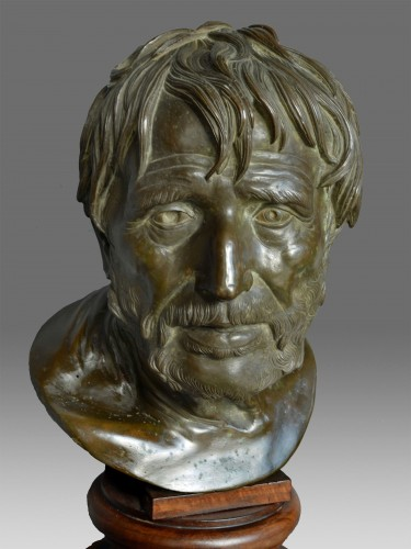 - Bust in bronze of Seneca Naples 19th Century