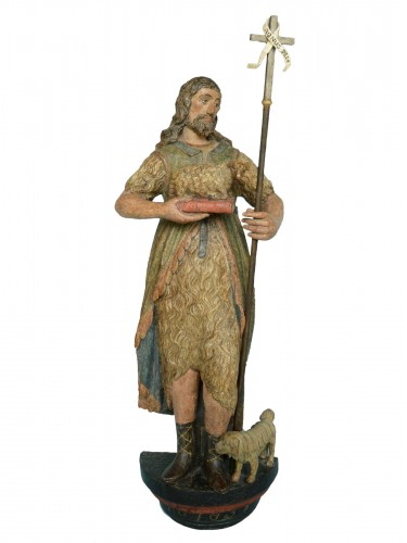 Sculpture of Saint John dated 1639