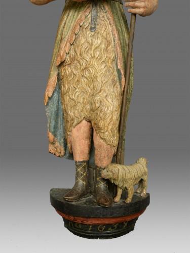 Sculpture  - Sculpture of Saint John dated 1639