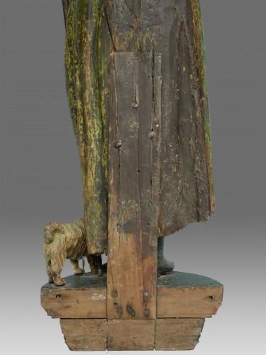 Sculpture of Saint John dated 1639 -