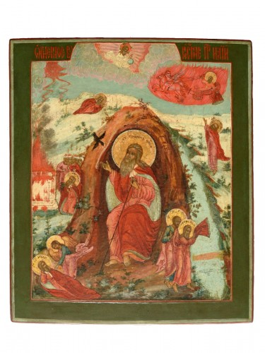 Fiery Icon Ascension of the Prophet Elias
