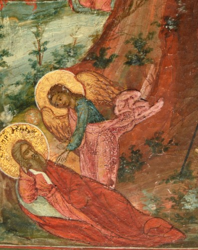 Religious Antiques  - Fiery Icon Ascension of the Prophet Elias