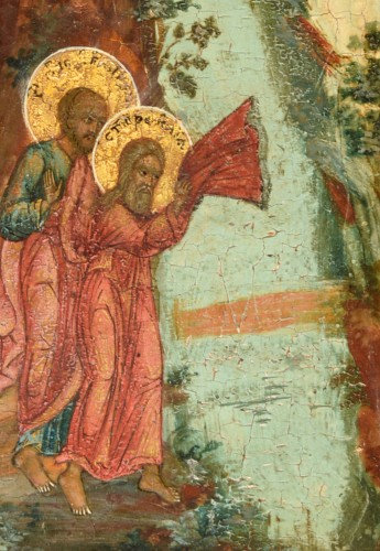 Fiery Icon Ascension of the Prophet Elias -