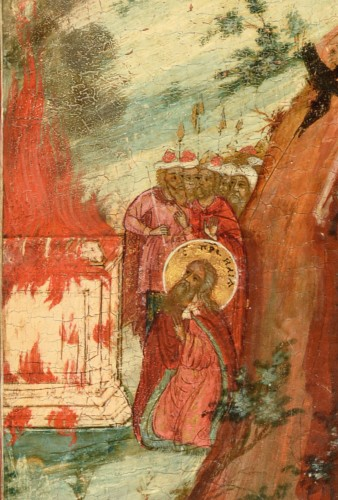 18th century - Fiery Icon Ascension of the Prophet Elias