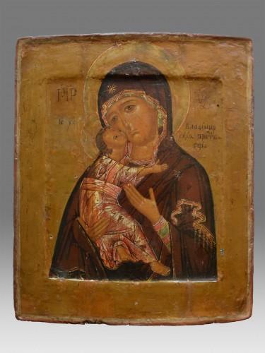 Icon Vladimirskaja - Religious Antiques Style Renaissance