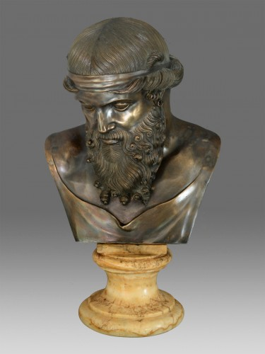 Sculpture  - Bust of bronze of Dionysos / Plato