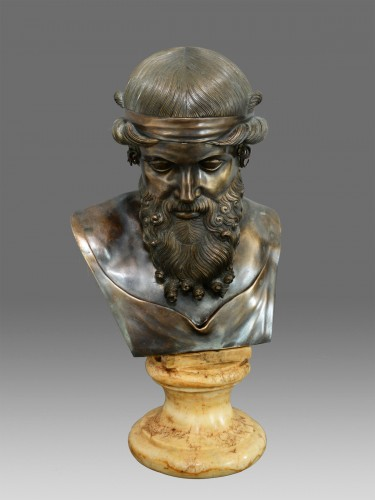 19th century - Bust of bronze of Dionysos / Plato