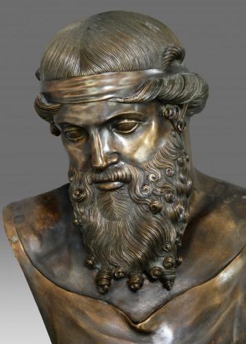 Bust of bronze of Dionysos / Plato - Napoléon III