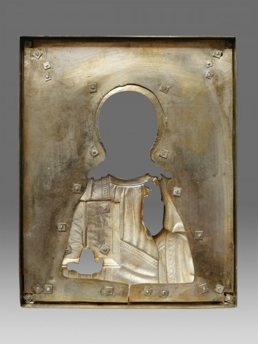 Christ icon with cloisonné enamel circa 1896 - 1908 -