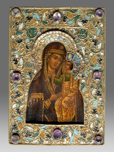 Virgin Hodegetria Icon - Religious Antiques Style Louis XIV