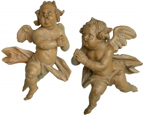 Pair of Angels worshiping Lorenz Luidl workshop