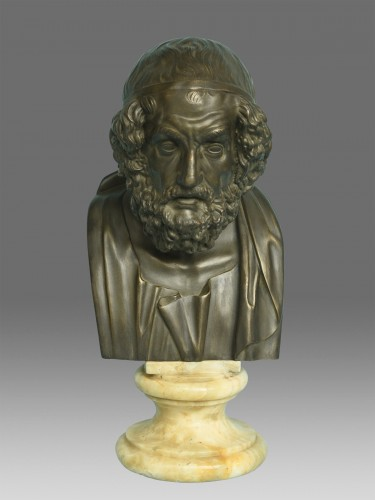 Bust of Philosopher Homer - Sculpture Style Napoléon III