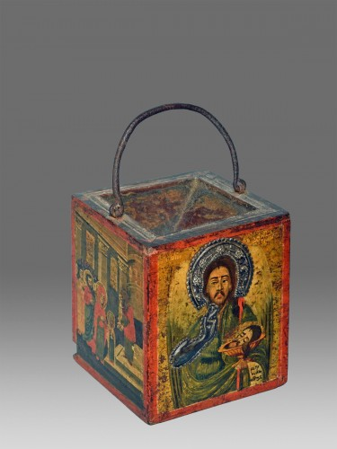 Greek offertory box end of 18th century - Religious Antiques Style Directoire