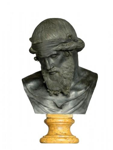 Bronze bust of Dionysus / Plato circa 1880