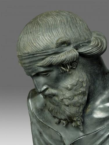 Bronze bust of Dionysus / Plato circa 1880 - Sculpture Style Napoléon III