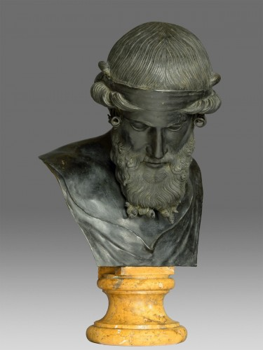 Sculpture  - Bronze bust of Dionysus / Plato circa 1880