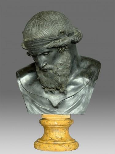 19th century - Bronze bust of Dionysus / Plato circa 1880