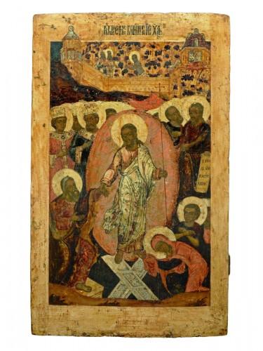 Icône tour de l'enfer du Christ vers 1650