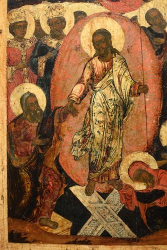 Icône tour de l'enfer du Christ vers 1650 - Religious Antiques Style Renaissance