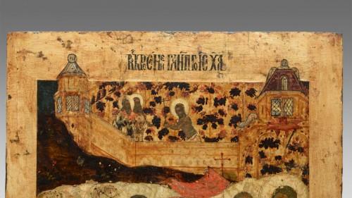 Religious Antiques  - Icône tour de l'enfer du Christ vers 1650