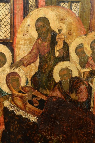 Icon of the Dormition of the Virgin circa 1650-80 - Religious Antiques Style Renaissance