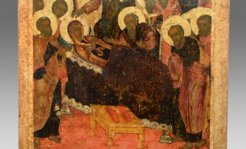 Religious Antiques  - Icon of the Dormition of the Virgin circa 1650-80