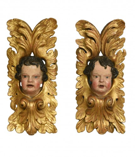 Pair of  angels  about 1680- 1700