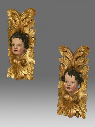 Pair of  angels  about 1680- 1700 - Sculpture Style Louis XIII