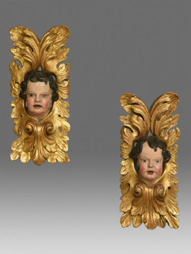 Antiquités - Pair of  angels  about 1680- 1700